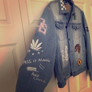 Men's Denim Patch Jacket